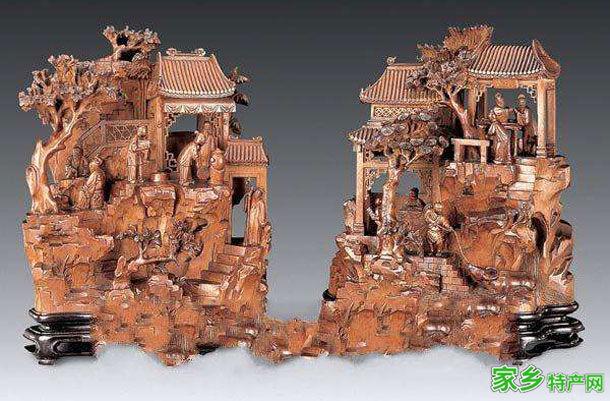 吉林市特产-彩绘木雕相关图片